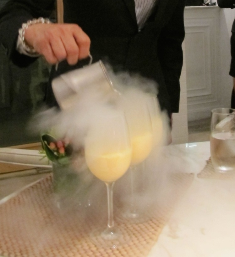 Making cocktail with fumes